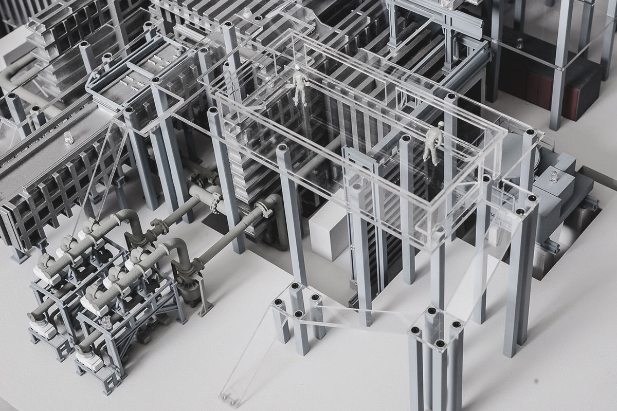 maqueta industrial maquinaria