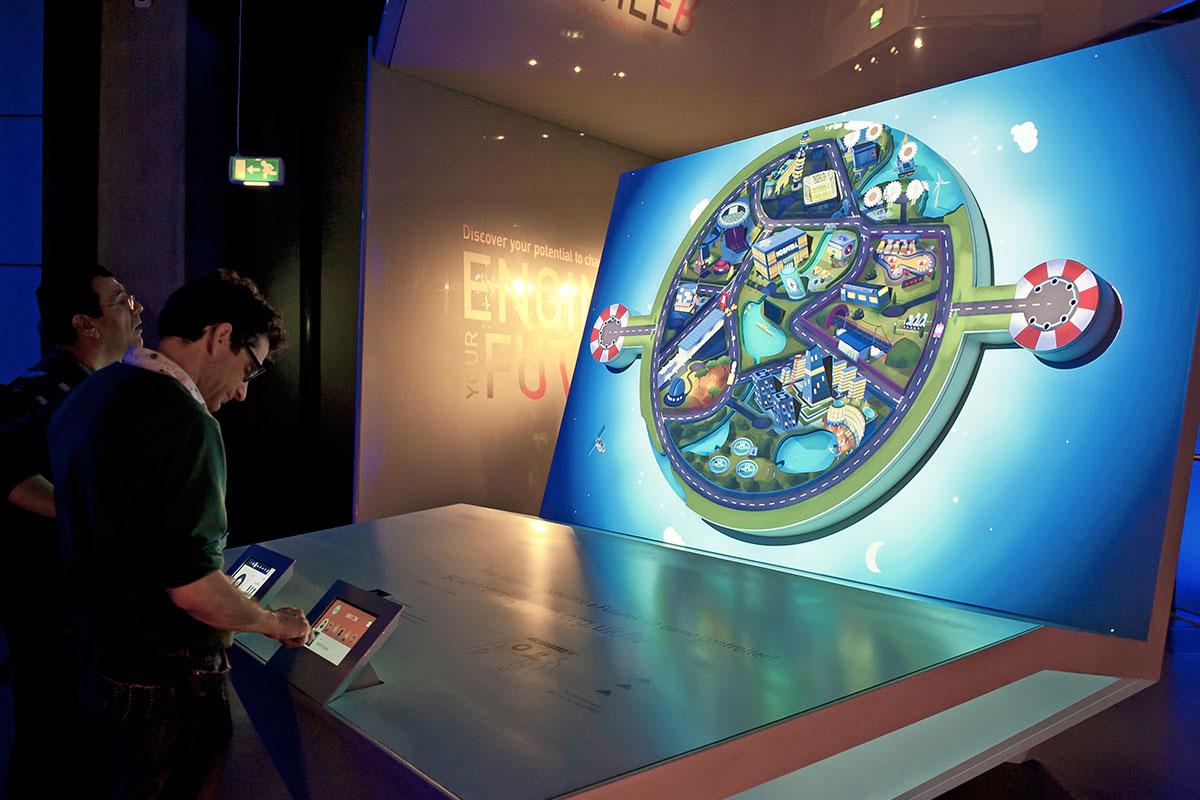 juego interactivo museo